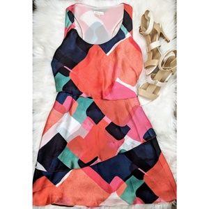 Shoshanna Geometric Print Ruffle Tiered Dress, 4